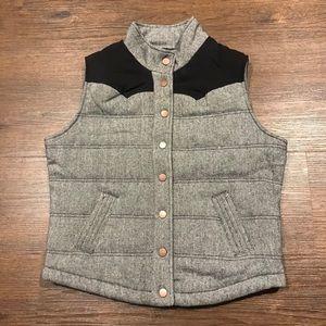 Ci Sono Black Tweed Vest